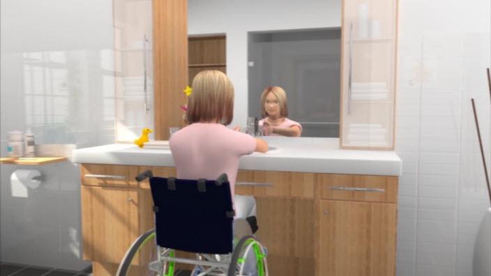 Niñas en silla de ruedas