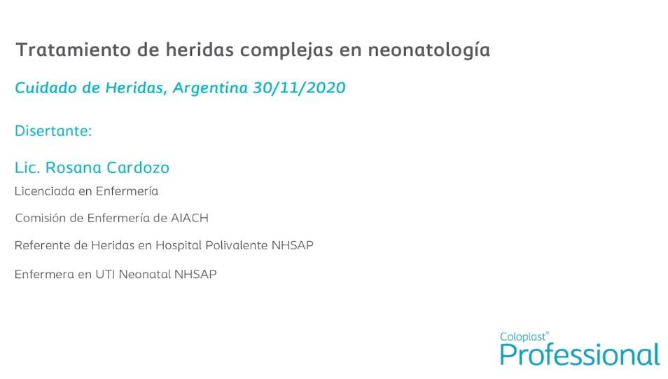 Tratamiento de heridas complejas en neonatología