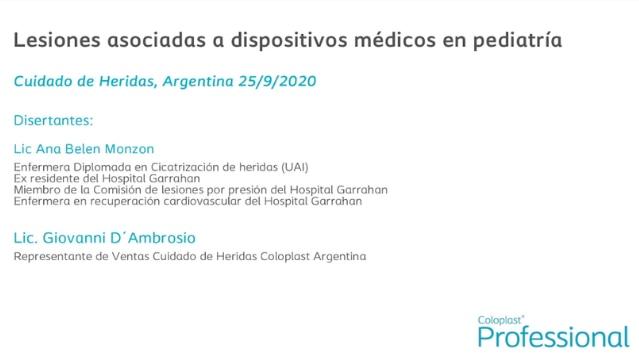 Lesiones asociadas a dispositivos médicos en pediatría