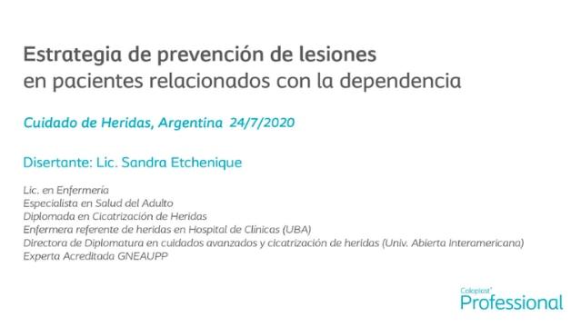 Estrategias de prevención en pacientes relacionados con la dependencia
